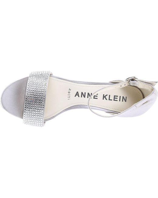 4a025799600 ... Anne Klein - Metallic Odree Ankle Strap Sandal - Lyst ...
