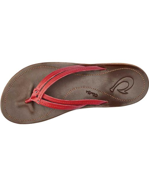 ef9892cb751d Lyst - Olukai U i Thong Sandal in Red