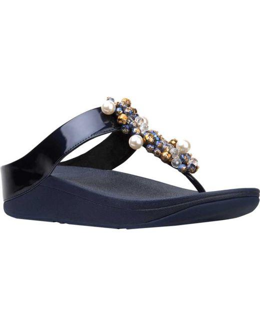 d639555bd Fitflop - Blue Deco Toe Thong Sandal - Lyst ...
