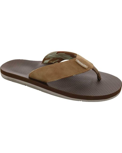 8a1e2d0dbe0b Lyst - Scott Hawaii Kaulana Flip Flop in Brown for Men