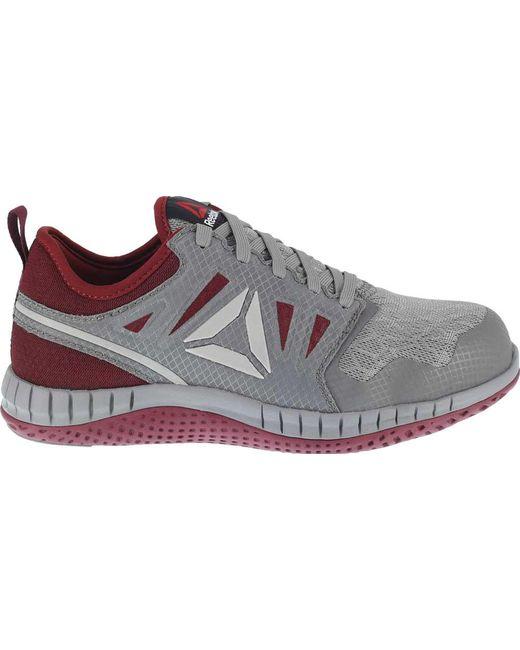 073bd62ba3e ... Reebok - Gray Zprint Work Rb253 Steel Toe Athletic Work Shoe - Lyst ...