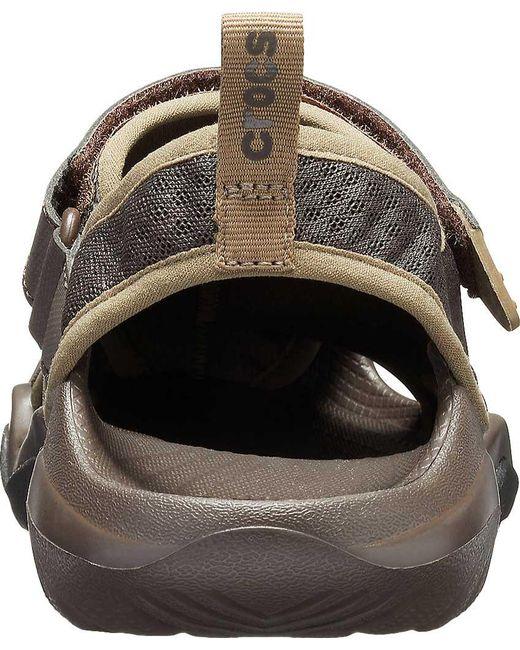 db933cd9846d ... Crocs™ - Brown Swiftwater Mesh Deck Closed Toe Sandal for Men - Lyst ...