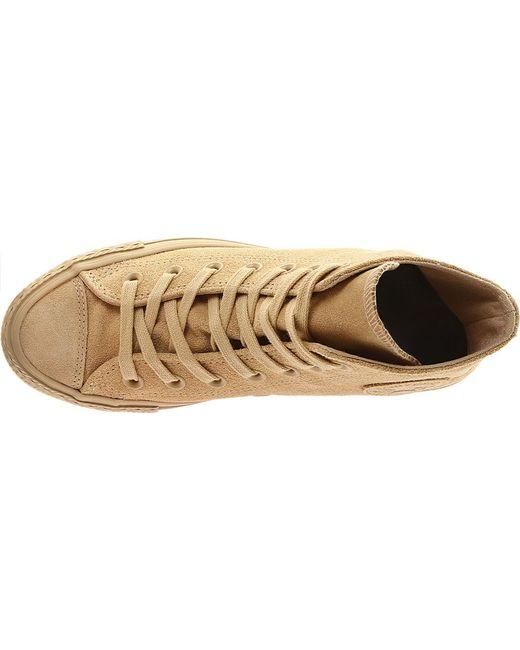 620705a0c1d2 ... Converse - Natural Chuck Taylor All Star Hi Mono Suede Sneaker - Lyst  ...