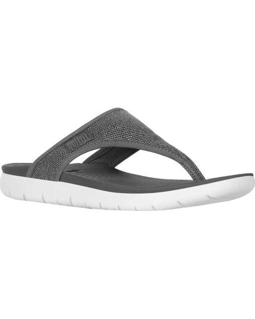 Fitflop - Gray Uberknit Thong Sandal - Lyst