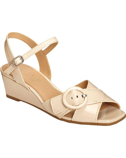 3894c334d Aerosoles - Natural Hornet Wedge Sandal - Lyst ...