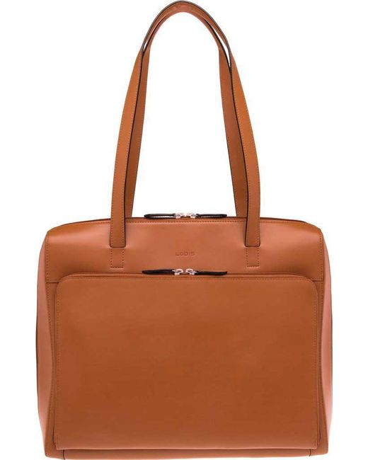 Lodis - Brown 'audrey Collection - Organizer' Tote With Shoulder Strap - Lyst
