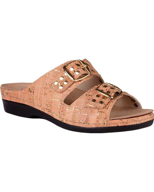 5b133032809 Lyst - Helle Comfort Tori Slide in Brown