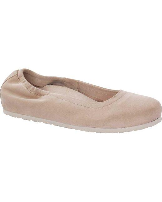 9bdd0e1b9cb1 Birkenstock - Pink Celina Suede Flat - Lyst ...