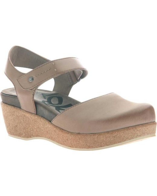 Otbt - Gray Elizabeth Closed Toe Sandal - Lyst