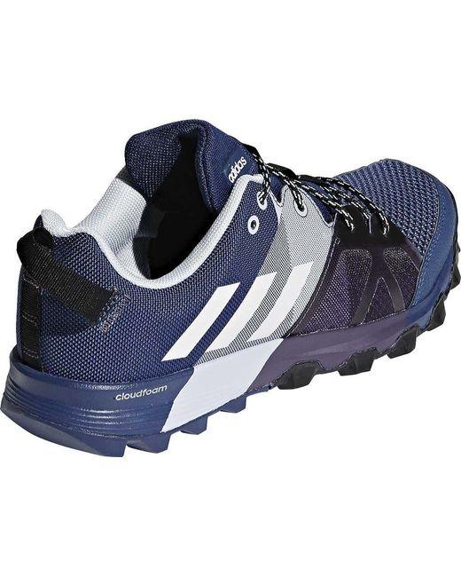 lyst adidas kanadia tracce scarpa blu per gli uomini.