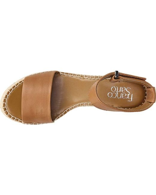 01cf58a62b8 ... Franco Sarto - Brown Clemens Espadrille Leather Platform Sandals - Lyst  ...