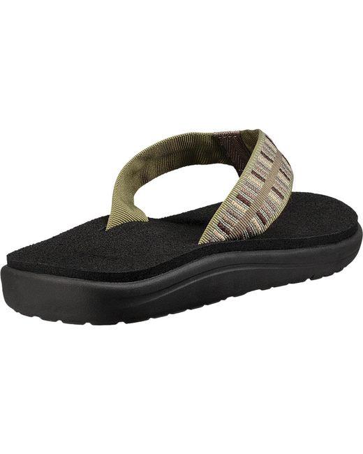 769226e078ff7 mens teva voya flip flop zook black textile flip flops shoes for ...