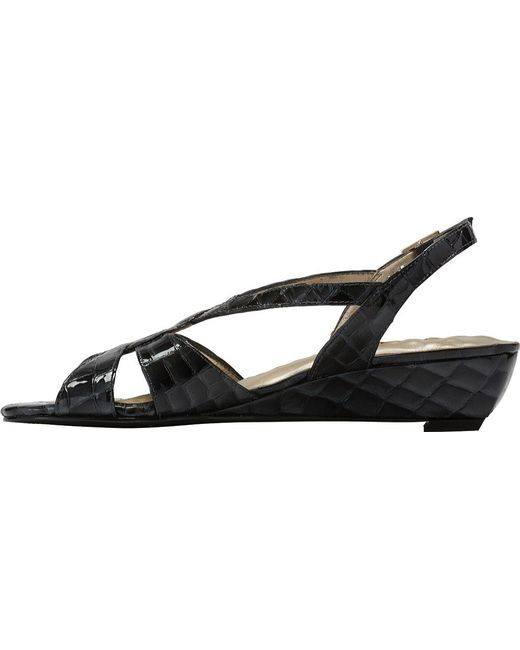 ed2f5add68ef9f ... Walking Cradles - Black Dixie Demi Wedge Slingback - Lyst ...