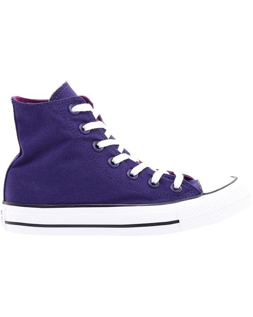 ... Converse - Purple Unisex Adults  Chuck Taylor All Star Hi-top Trainers  for Men ... 5473f8340