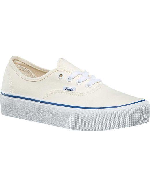 Lyst Vans Authentic Platform 2.0 Sneaker in Weiß Weiß Weiß 21ed9e