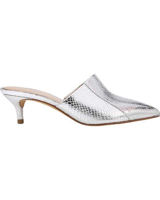 Franco Sarto Doxie Metallic Foil Snake Print Dress Mules 8Vpo1yc