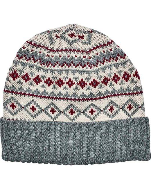 0ceefab8545 San Diego Hat Company - Gray Fair Isle Knit Beanie With Cuff Knh3463 - Lyst