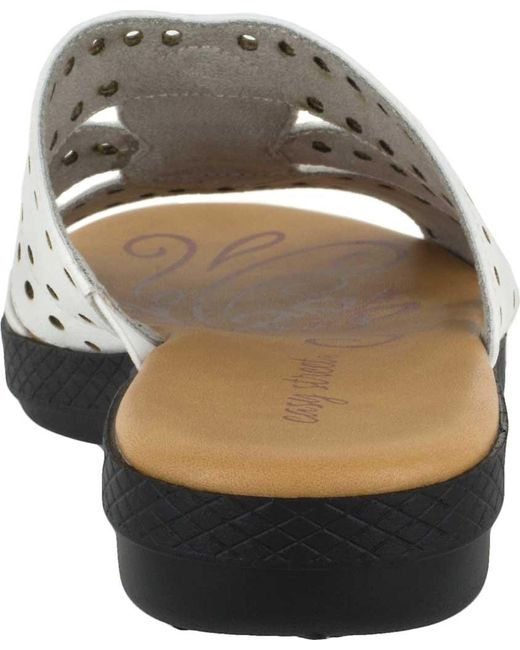 176818c9890 Lyst - Easy Street Vara Jeweled Sandals in White - Save 2%