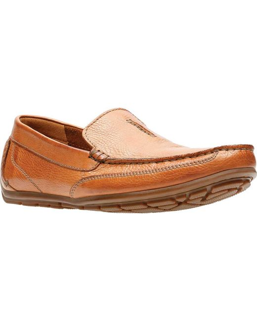 2b352bb98 Clarks - Brown Benero Race Loafer for Men - Lyst ...