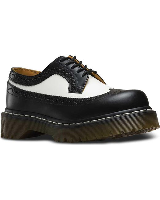 1aadd7cda7 Dr. Martens - Black 3989 5 Eye Brogue Bex Sole for Men - Lyst ...