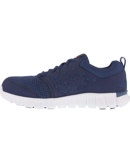 ... Reebok - Blue Sublite Cushion Rb4043 Work Shoe for Men - Lyst ... bff9fa030