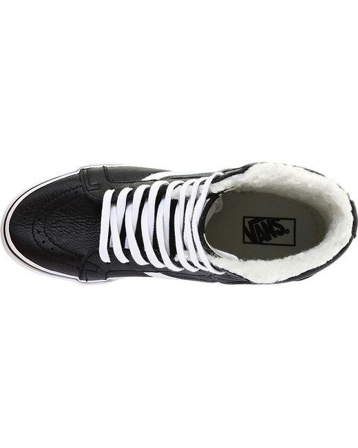 cf8d5d138f4548 ... Vans - Black Premium Leather Sk8-hi Reissue High Top for Men - Lyst ...