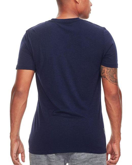 d3f2027a ... Icebreaker - Blue Tech Lite Short Sleeve Crewe Solid Tee for Men - Lyst  ...