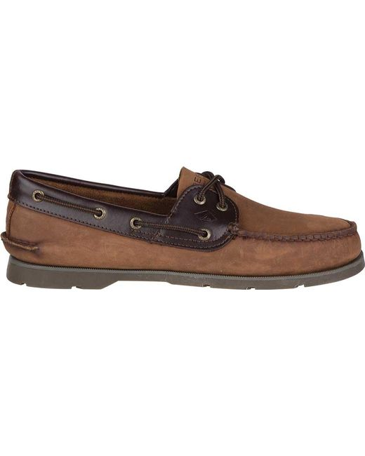 93a7b903ea0 ... Sperry Top-Sider - Brown Leeward 2-eye for Men - Lyst ...