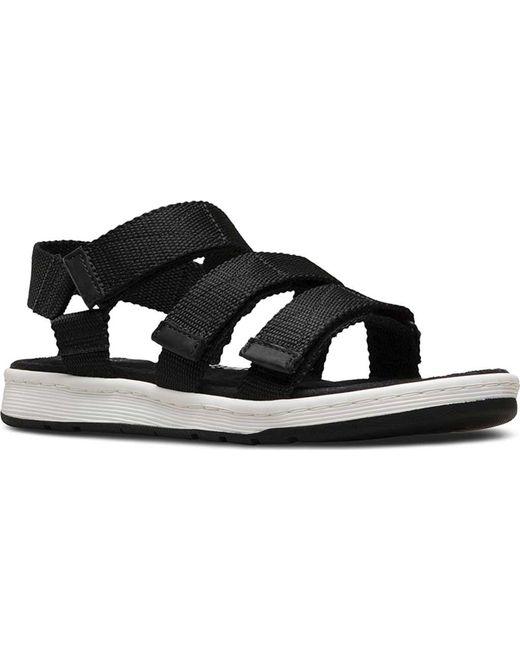Dr. Martens - Black Maldon 3-strap Sandal for Men - Lyst