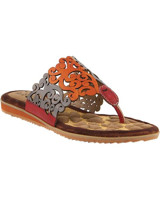 Spring Step - Multicolor Heaven Thong Sandal - Lyst