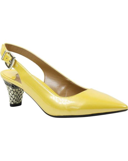 779545eb82 J. Reneé - Yellow Mayetta Slingback Pearlized Patent Dress Pumps - Lyst ...