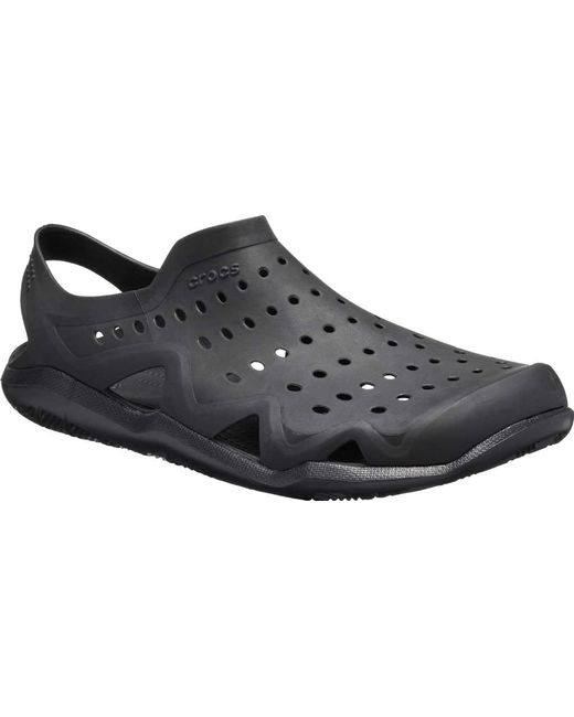 31e3d84feee7 Crocs™ - Black Swiftwater Wave Water Shoe for Men - Lyst ...