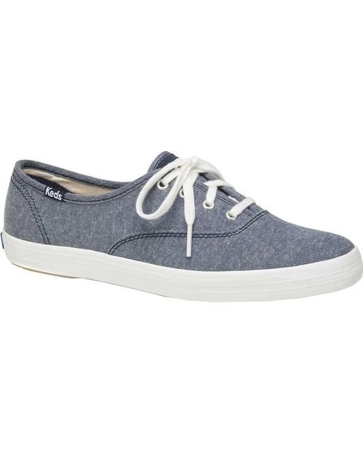 6ca613727be Lyst - Keds Champion Oxford Canvas Sneaker in Blue