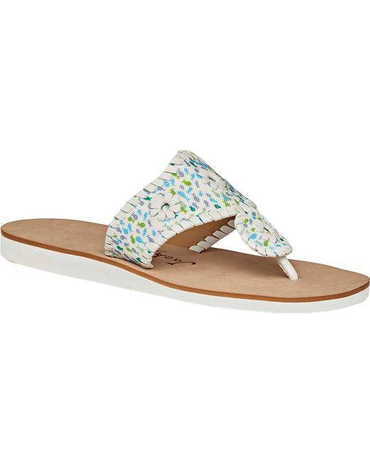 d8b31c8e623b Jack Rogers - Multicolor Captiva Thong Sandal - Lyst ...