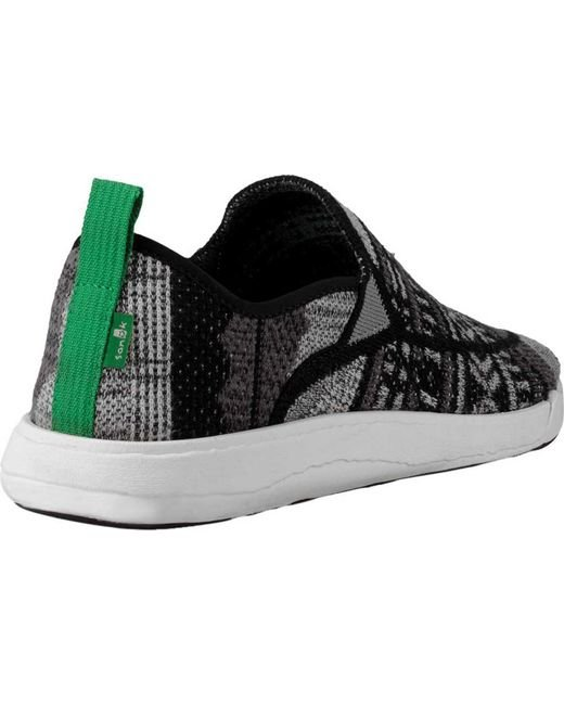 Outlet Exclusive Sanuk Chiba Quest Knit Sneaker -Black/Grey Mesh Free Shipping Reliable OYZ7Bms
