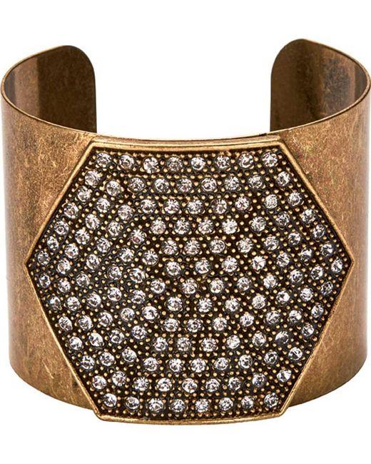 San Diego Hat Company - Metallic Rhinestone Wide Cuff Bsj3504 - Lyst