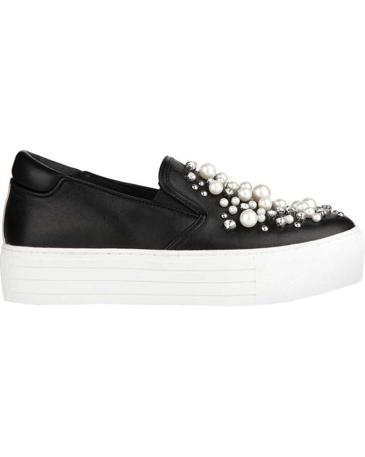 Kenneth Cole - Black Ashby Pearl Platform Sneaker - Lyst