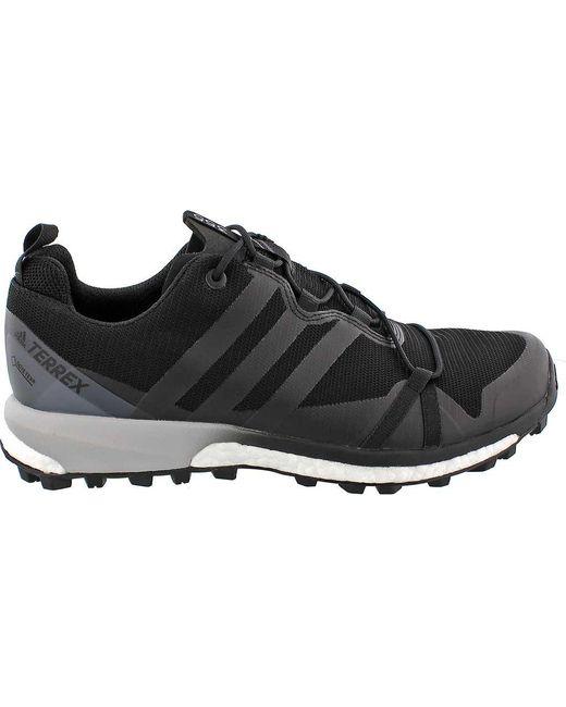 Lyst adidas terrex agravic gore - tex tracce di scarpe da corsa in nero