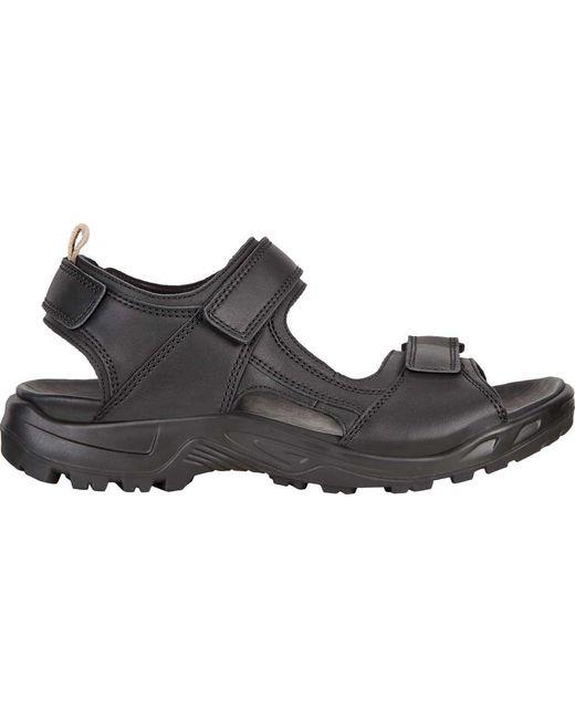 52b7fa17e78e ... Ecco - Black Yucatan Premium Walking Sandal for Men - Lyst ...