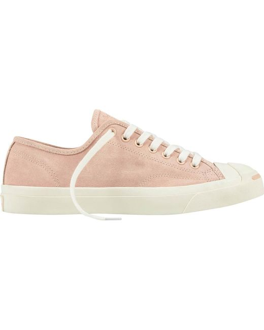 Converse Jack Purcell Suede Trainers In Dusky Pink outlet low shipping GZvTRKa
