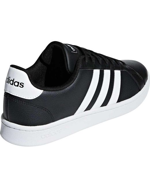 low priced aa68b 634e3 ... Adidas - Black Grand Court Sneaker for Men - Lyst ...