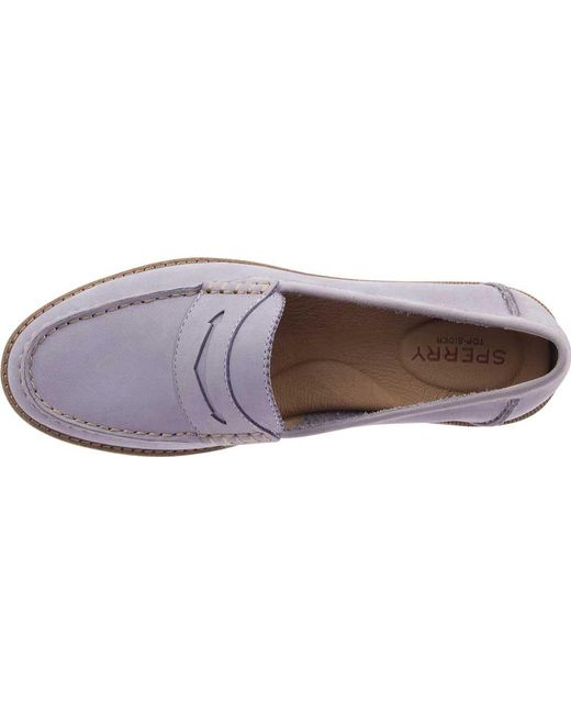 91ee827d551 Lyst - Sperry Top-Sider Seaport Penny Loafer in Purple - Save 36%