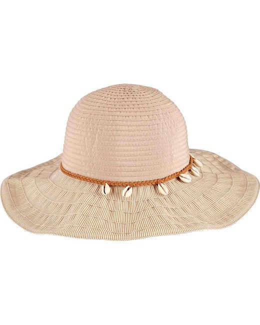 San Diego Hat Company - Natural Ribbon Sun Hat With Shell Trim Rbl4786 -  Lyst d799a090743