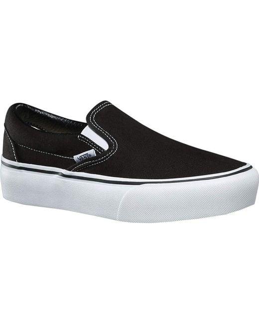 d3c6b61bdd05ef Vans - Womens Black Classic Slip On Platform Trainers for Men - Lyst ...