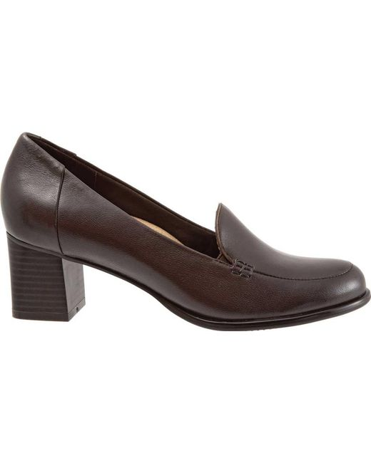 4c61f72968 Lyst - Trotters Quincy (dark Brown Soft Nappa Leather) Women s Shoes ...