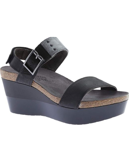 Naot - Gray Alpha Wedge Sandal - Lyst
