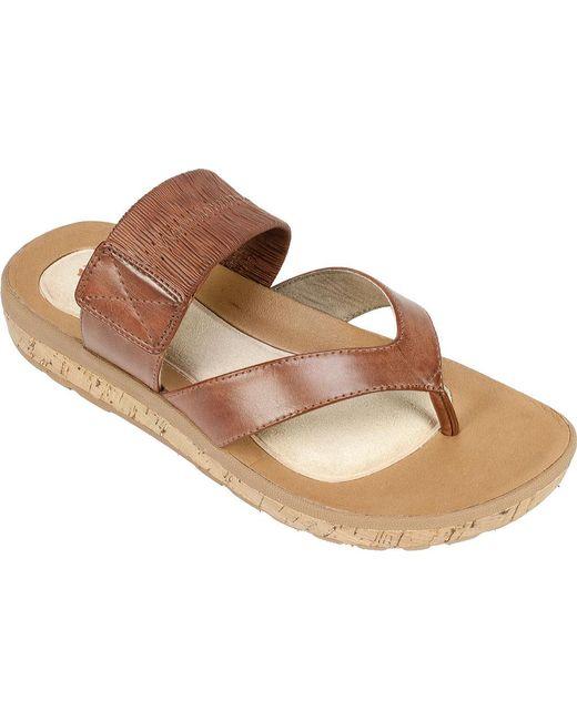 White Mountain Footwear | Brown Savaria Thong Sandal | Lyst