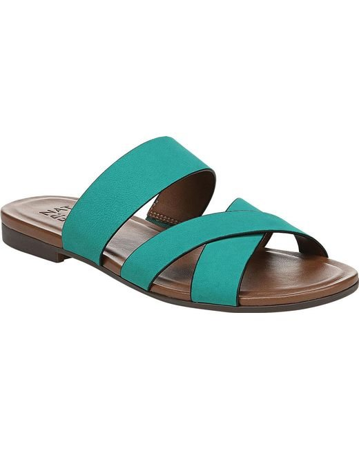 7b6e60fb6757 Naturalizer - Green Treasure Slide Sandal - Lyst ...
