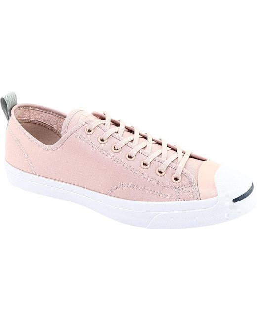 9f702ba55f17 Converse - Pink Jack Purcell Jack Ox Micro Ripstop Sneaker - Lyst ...