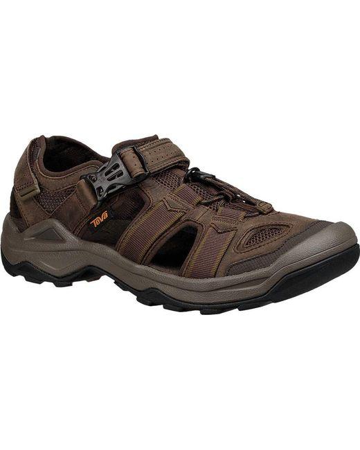6f5818a4f99c59 Teva - Brown Omnium 2 Leather Walking Sandal for Men - Lyst ...